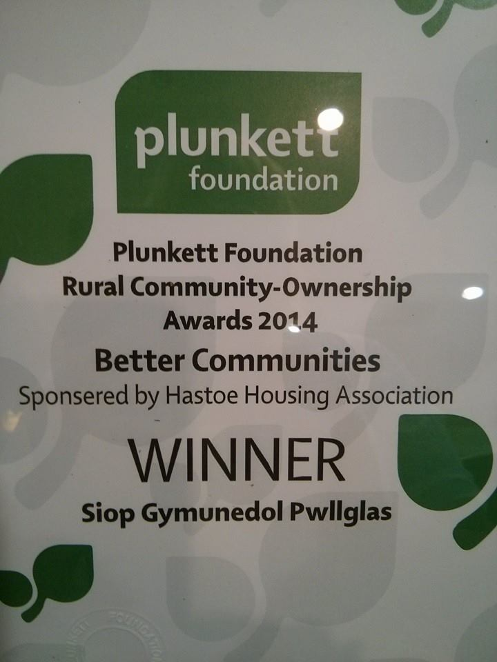 Siop Gymunedol Pwllglas Plunkett Foundation Rural Community Ownership Awards
